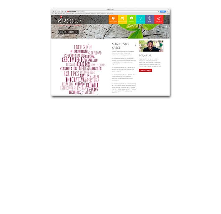 Diseño Web Krece - Página información