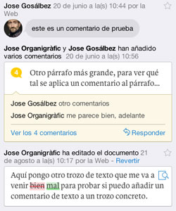 Captura de modificaciones en Quip