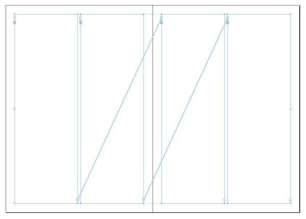 Marcos de texto enlazados en InDesign