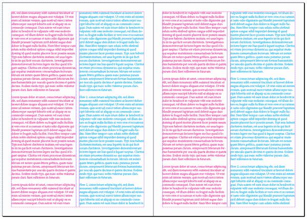 Dos flujos de textos paralelos en InDesign