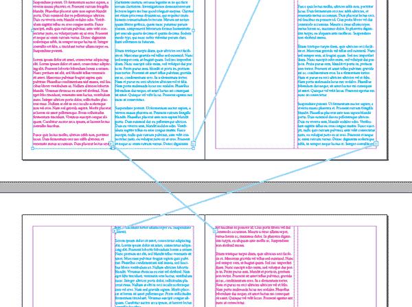 Flujos de texto no paralelos en InDesign