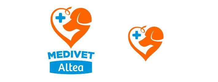 Diseño Versiones Logotipo MediVet Altea