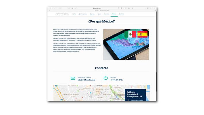 Diseño Web Evidence K&M - ¿Por qué México?