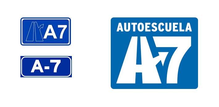 Proceso diseño imagen Autoescuela A7