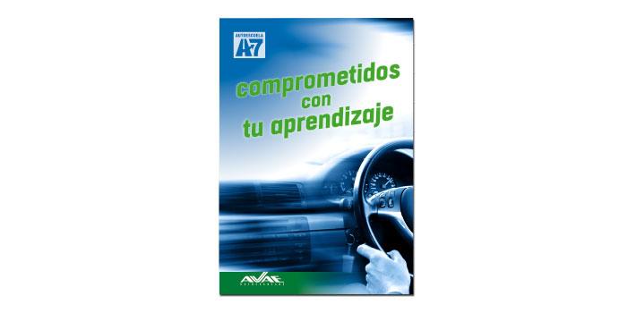 Diseño cartel Autoescuela A7