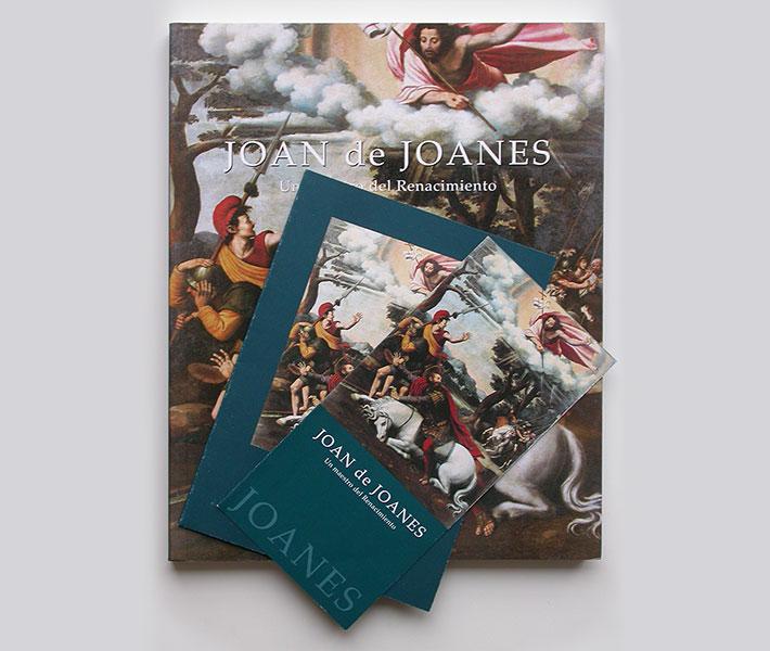Diseño catálogo, folleto y hoja de sala de exposición Joan de Joanes