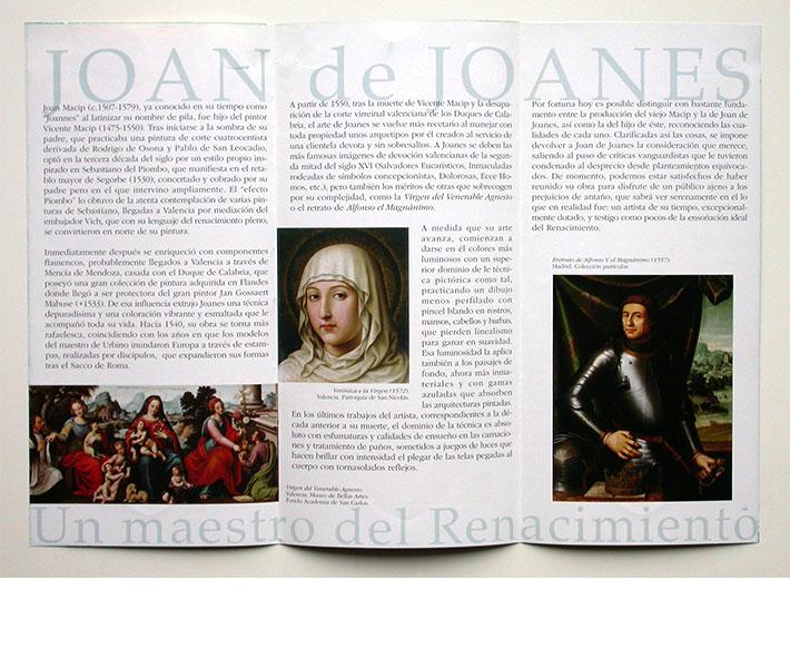 Diseño Folleto exposición Joan de Joanes