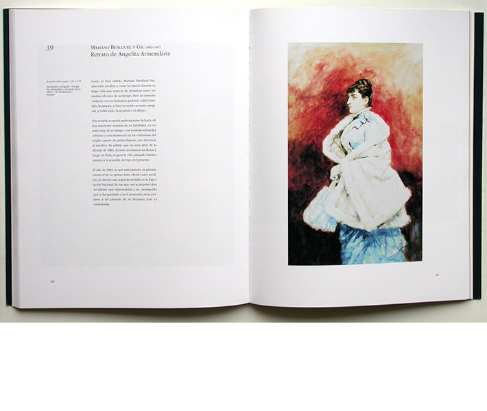 Diseño página interior catálogo arte