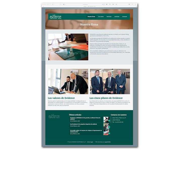 Diseño Web Evidence - Nuestra firma