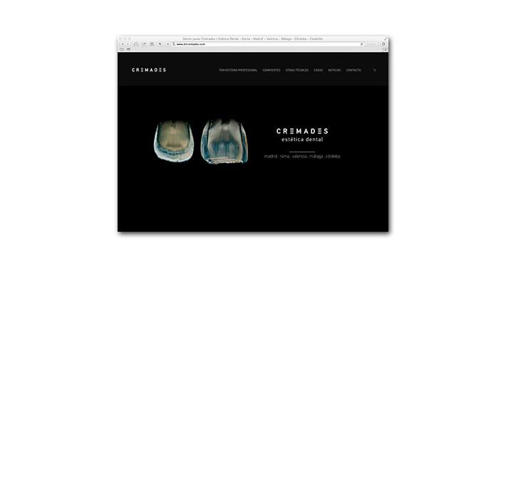 Diseño Web Cremades Estética Dental - Portada