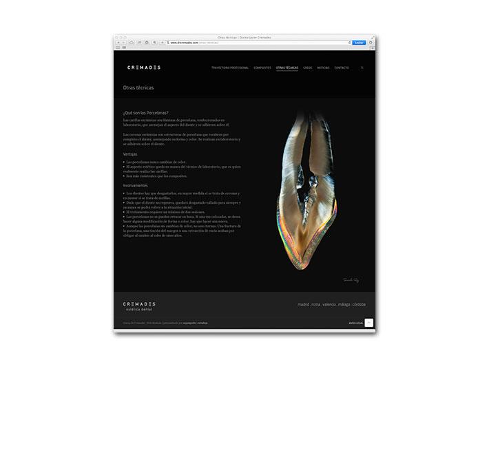 Diseño Web Cremades - Página