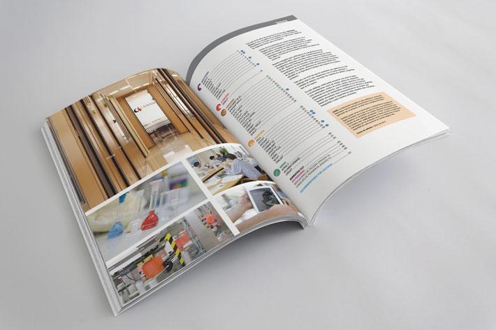 Doble página interior maquetación