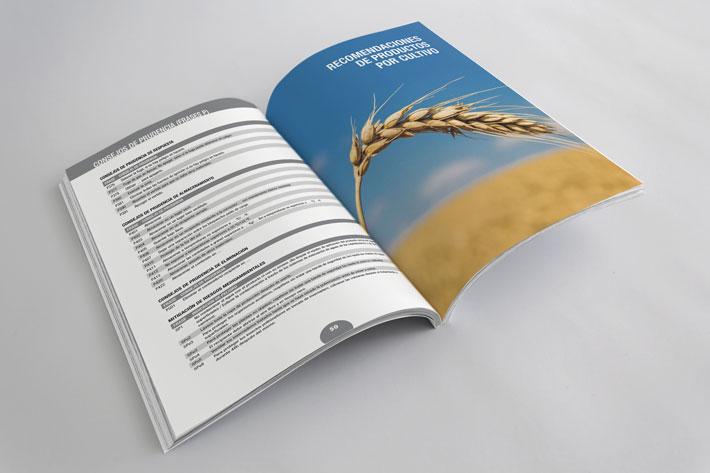doble página tablas catálogo
