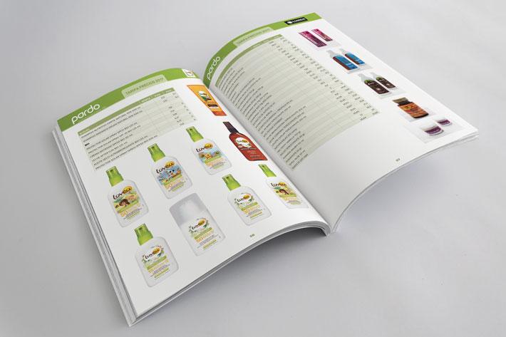Páginas interiores de libro de tarifas